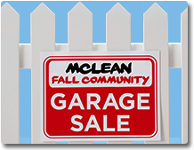 Fall garage sale shadox box