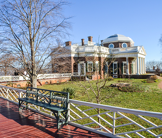 Monticello with columns